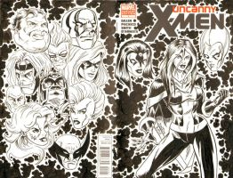 Rogue Sketch Cover - X-Men by ElfSong-Mat