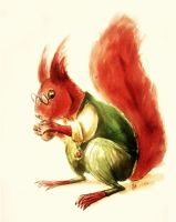 Theo as a squirrel by elicenia