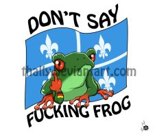 Don't say F'ing Frog Tattoo by Thally