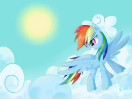 Rainbow Dash by MusicFireWind