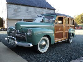 1942 Ford Super DeLuxe Wagon by prestonthecarartist