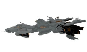 Battle Cruiser Concept by NuclearMagpie