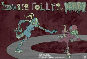 Zombie Roller Derby Concept Art 2 by Cosmic-Onion-Ring