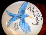 Mockingjay Plate by braidsandarrows