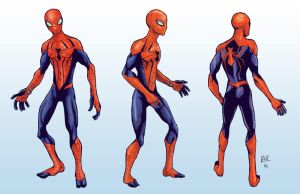 Spidey Redesign Turn Arounds by RtRadke