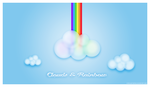 Clouds and rainbow by StarlightSophie