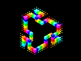 Dissolving Rainbow Cubes by olivertandy