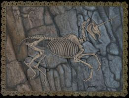 Unicorn Fossil by sighthoundlady