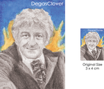 Third Doctor - Pencil Mini portrait by DegasClover