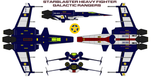Starblaster Heavy Fighter  Galactic Rangers by bagera3005