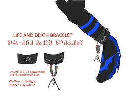 Life and Death Leather Bracelet Scale Charm by Asenath-Nightroad
