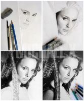 Step By Step - drawing Natalie Portman by byMichaelX