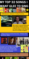32 Songs I Want Glee To Sing by WhiteDressandBowTie