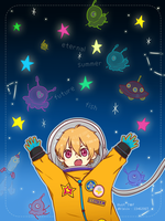 fa: Free! ES : Space Nagisa by 7-8jf