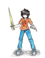 Percy Jackson colored by RustyArtist