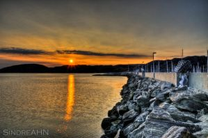 HDR Sunset at the Pier by SindreAHN