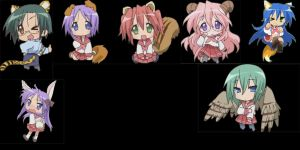 lucky star animal spray pack by Shyo-Minamimoto