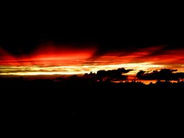 Red sunset by endriane