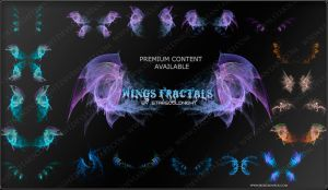 wings fractals by STARSCOLDNIGHT by StarsColdNight