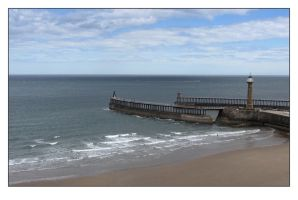 Whitby Pier 2007 by sicklittlemonkey