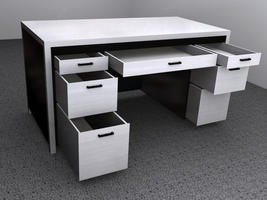 Metal Desk, Render 2 by Picolini