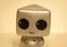 HeartBot the Robot Toy by maskedrabbitcrafts