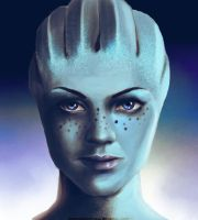 Liara T'Soni by postcardsandroses