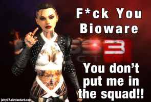 Jack is angry with Mass Effect 3 by jehy07