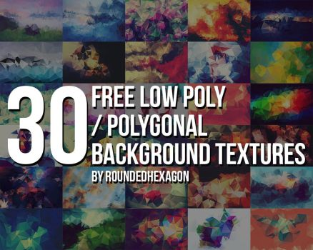30 Free Polygonal Low Poly Background Textures by RoundedHexagon