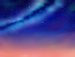 Night Sky Milky Way by SaekoCivillianRebel