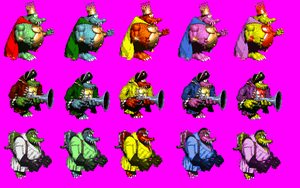 SSB Style Alternate Palettes for King K. Rool by geno2925