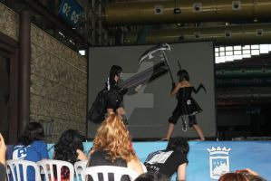 Black rock shooter and Dead master cosplay by xPaulaMikux