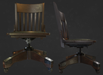 Antique desk chair by llMarcos
