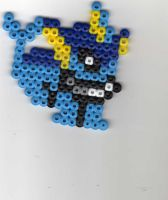 Vaporeon Beadsprite by Spazzikisster