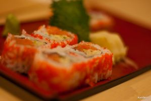 2nd Salmon Crunchy Roll by KuroDot