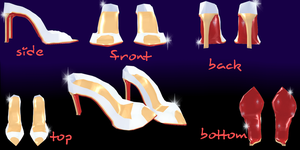 mmd Peep Toe-shoes by Tehrainbowllama