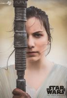 Rey  - Star Wars (The Force Awakens) - 1 by Atsukine-chan