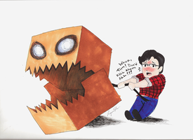 Monster Box Tim- Colored! by themightyhawkartist