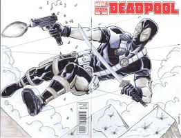 Deadpool sketch cover by NJValente