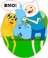 Adventure Time - Finn and Jake by Tsiki10