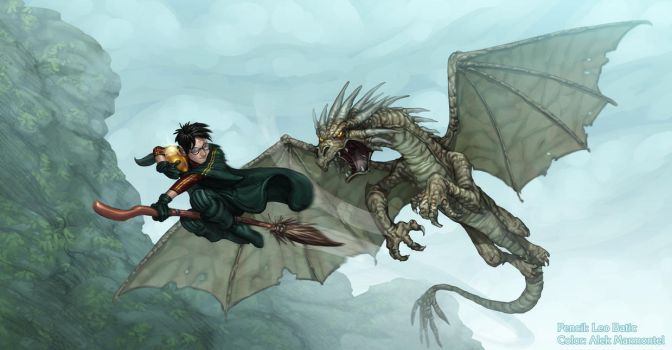 Harry Potter and the Horntail! by Alek-Marmontel