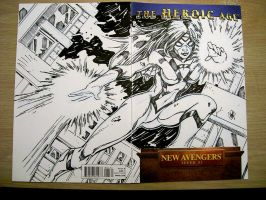 NEW AVENGERS SKETCH COVER by stalk
