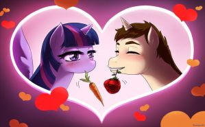 Twilight Sparkle x Peter Parker- Carrots and Love by Jamal2504