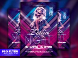 Ladies Night Flyer Template PSD by Art-MiraNAX
