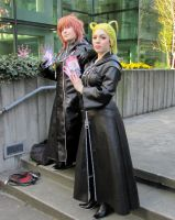 Marluxia and Larxene by 93FangShadow
