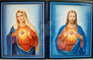 Two Sacred hearts by NewYorkArtistFrancis