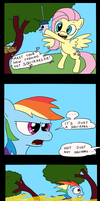 Rainbow Dash finds a pet! by tifu