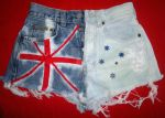 Grunge Australian Flag Shorts by miss69