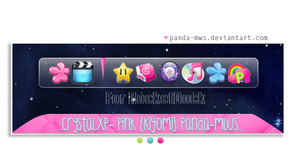 Crystal.XP- Pink_ROCKETDOCK by Panda-MWS