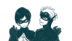 young justice robin and kid flash by suyoung-jun